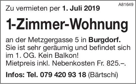 1-Zimmer-Wohnung, Burgdorf, zu vermieten