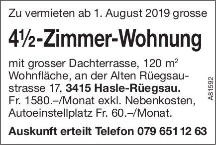 4.5-Zimmer-Wohnung, Hasle-Rüegsau, zu vermieten