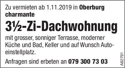 3.5-Zi-Dachwohnung, Oberburg, zu vermieten