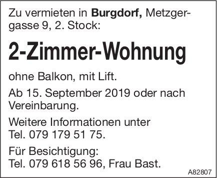 2-Zimmer-Wohnung, Burgdorf, zu vermieten