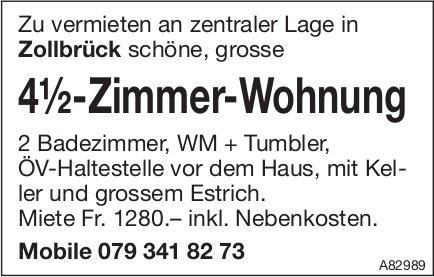 4.5-Zimmer-Wohnung, Zollbrück, zu vermieten