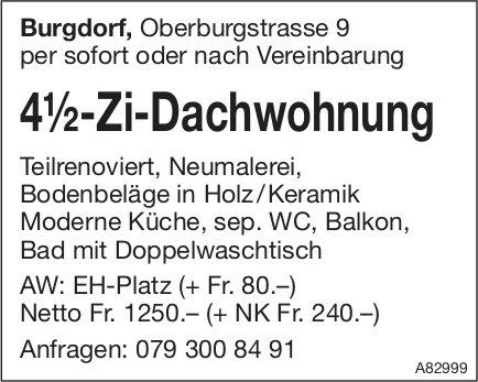 4.5-Zi-Dachwohnung, Burgdorf, zu vermieten