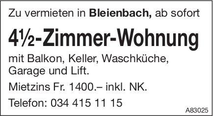 4.5-Zimmer-Wohnung, Bleienbach, zu vermieten