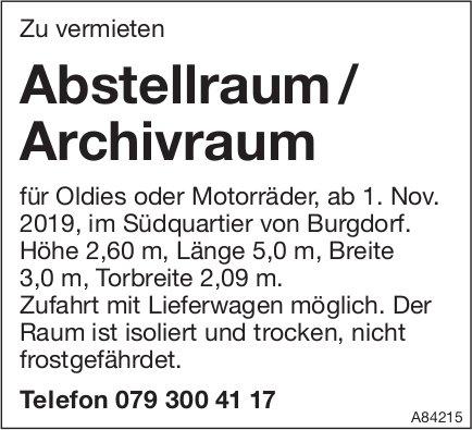 Abstellraum / Archivraum, Burgdorf, zu vermieten