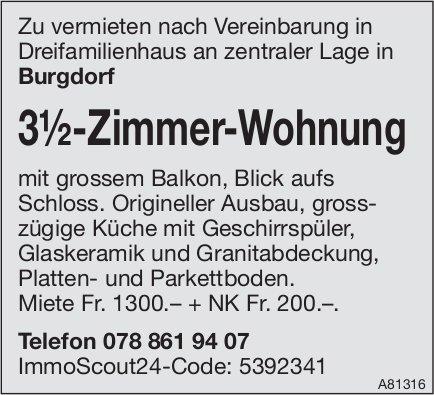 3½-Zimmer-Wohnung in Burgdorf zu vermieten
