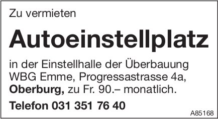Autoeinstellplatz, Oberburg, zu vermieten