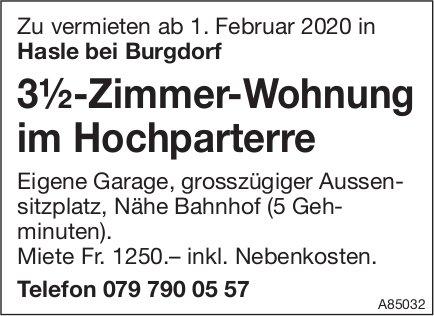 3.5-Zimmer-Wohnung, Hasle bei Burgdorf, zu vermieten