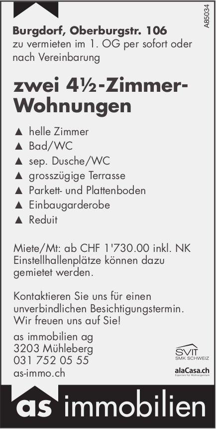 4.5-Zimmer-Wohnungen, Burgdorf, zu vermieten