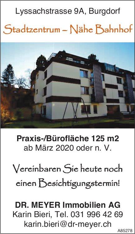 Praxis-/Bürofläche 125 m2 ab März 2020 oder n. V. in Burgdorf zu vermieten