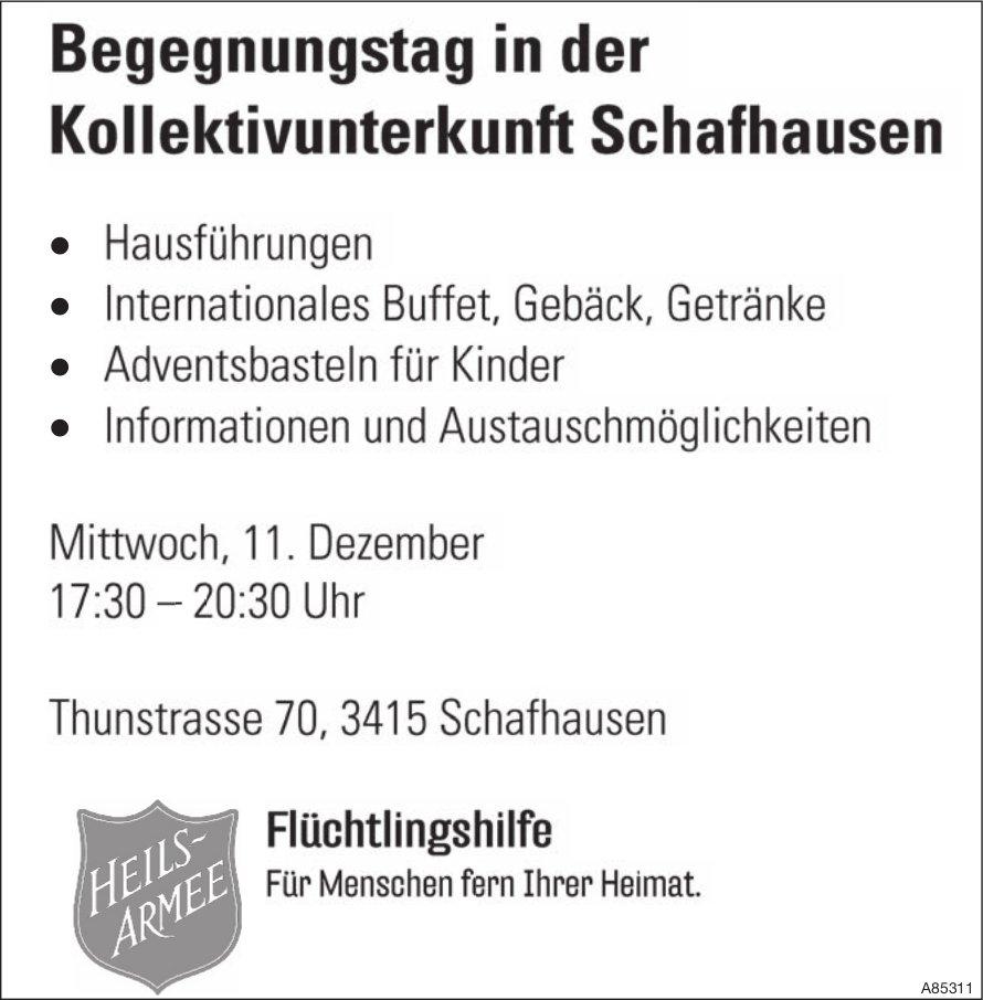 Heilsarmee - Begegnungstag in der Kollektivunterkunft Schafhausen am 11. Dezember