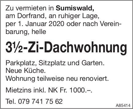 3.5-Zi-Dachwohnung, Sumiswald, zu vermieten