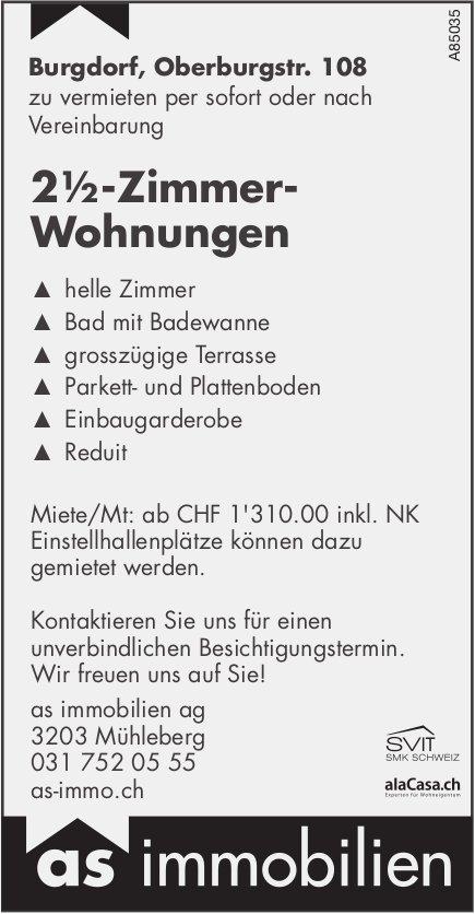 2.5-Zimmer-Wohnungen, Burgdorf, zu vermieten