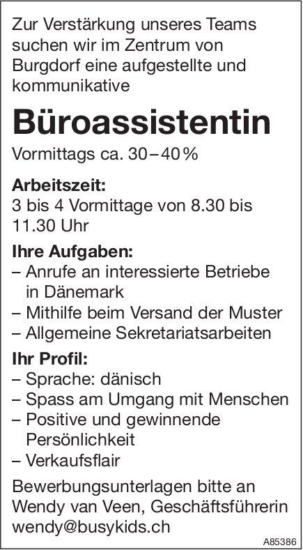 Büroassistentin, Busy Kids, Burgdorf, gesucht
