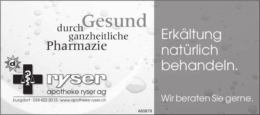 Apotheke Ryser AG, Burgdorf - Erkältung natürlich behandeln.