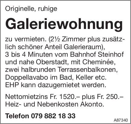 2.5-Zimmer-Galeriewohnung, Burgdorf, zu vermieten