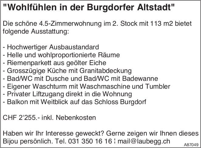 4.5-Zimmerwohnung, Burgdorf, zu vermieten
