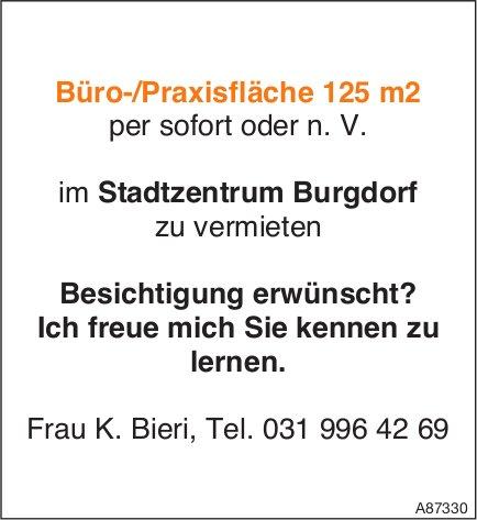 Büro-/Praxisfläche 125 m2, Burgdorf, zu vermieten