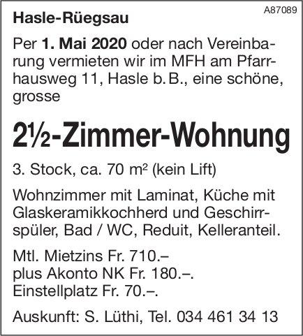 2.5-Zimmer-Wohnung, Hasle-Rüegsau, zu vermieten