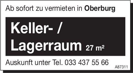 Keller- / Lagerraum 27m², Oberburg, zu vermieten