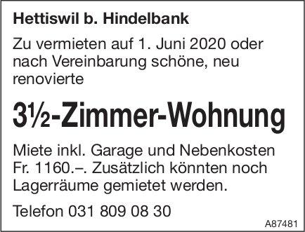 3.5-Zimmer-Wohnung, Hettiswil b. Hindelbank, zu vermieten