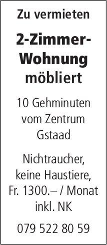2-Zimmer-Wohnung möbliert 10 Gehminuten vom Zentrum Gstaad zu vermieten