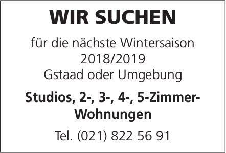 Gesucht: Studios, 2-, 3-, 4-, 5-Zimmer- Wohnungen in Gstaad oder Umgebung