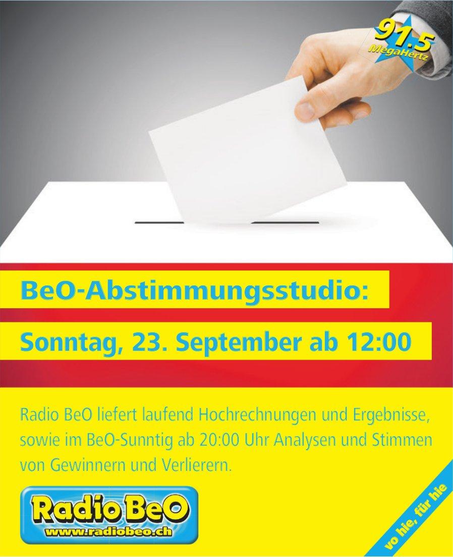 BeO-Abstimmungsstudio, 23. September