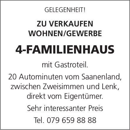 4-Familienhaus, 20 Automin. vom Saanenland, zu verkaufen