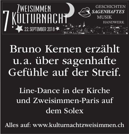 7. Kulturnacht Zweisimmen - Bruno Kernen, 22. September