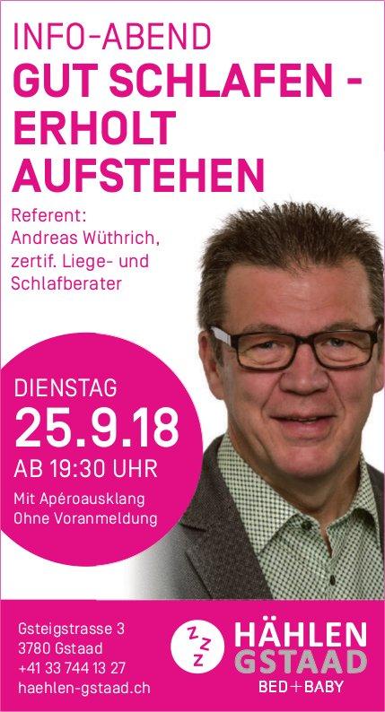 """Info-Abend """"Gut Schlafen - Erholt Aufstehen"""", 25. September"""