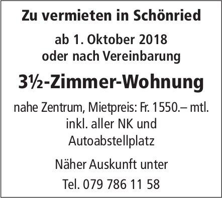 3½-Zimmer-Wohnung, Schönried, zu vermieten