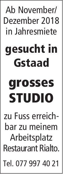 Gesucht: grosses Studio, Gstaad