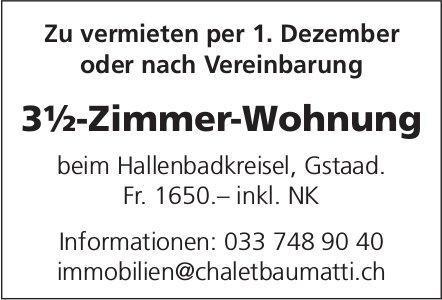 3½-Zimmer-Wohnung, Gstaad, zu vermieten