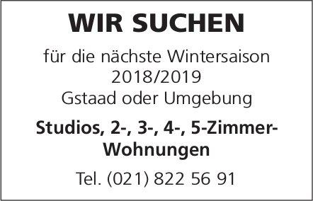 Gesucht: Studios, 2-, 3-, 4-, 5-Zimmer-Wohnungen, Gstaad oder Umgebung
