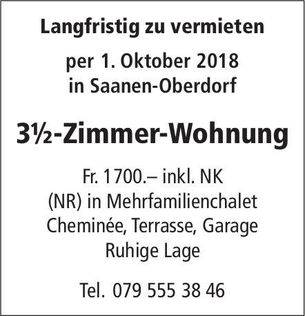 3½-Zimmer-Wohnung, Saanen-Oberdorf, zu vermieten