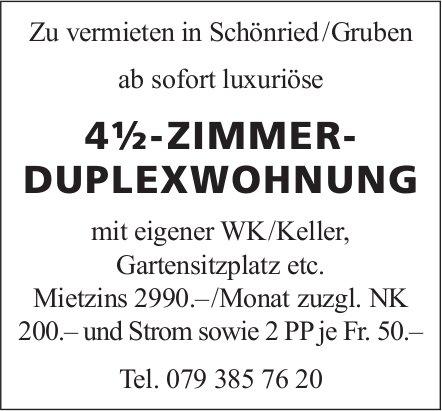 4.5-Zimmer-Duplexwohnung, Schönried/Gruben, zu vermieten