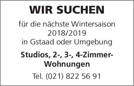 Studios, 2-, 3-, 4-Zimmer-Wohnungen gesucht, Gstaad oder Umgegung