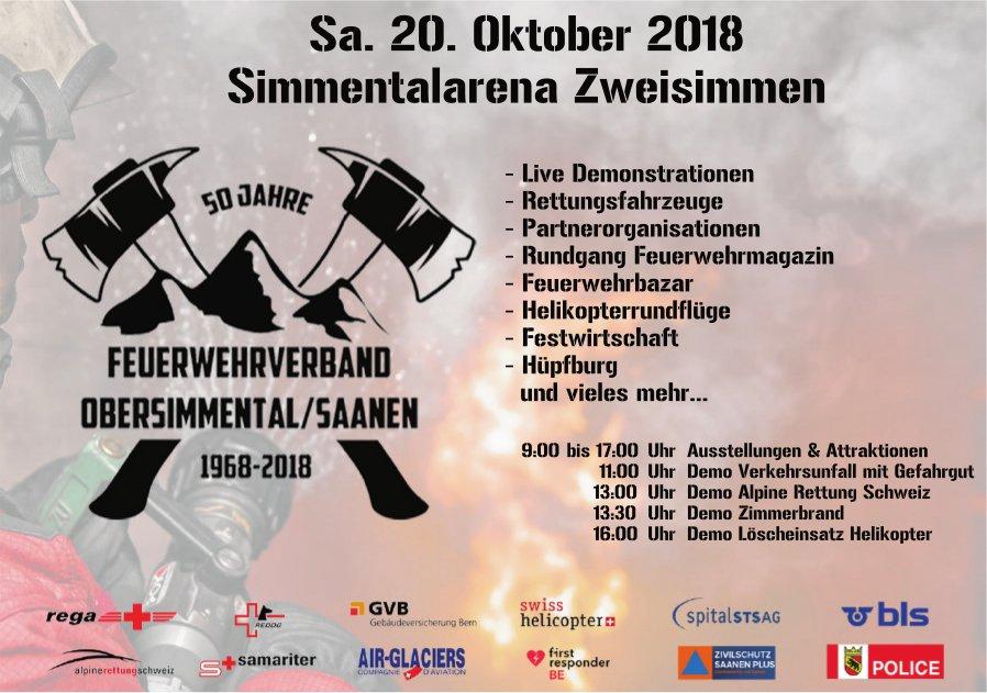 50 Jahre Feuerwehrverband Obersimmental/Saanen, 20. Oktober, Simmentalarena Zweisimmen