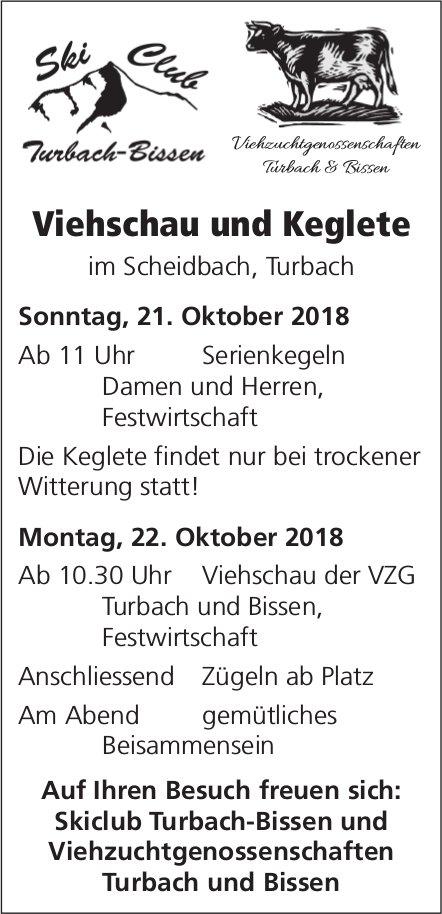 Viehschau und Keglete, 21./22. Oktober, Scheidbach / Turbach