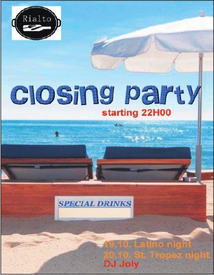 closing party, 19./20. Oktober, Rialto