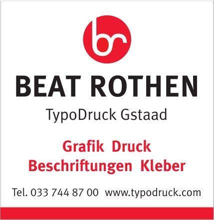 BEAT ROTHEN, TypoDruck Gstaad - Grafik, Druck, Beschriftungen, Kleber