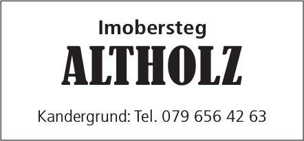 Imobersteg ALTHOLZ, Kandergrund