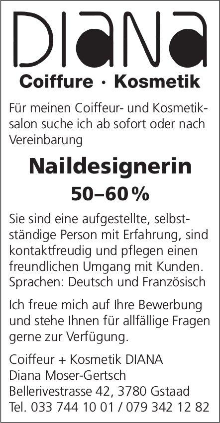 Naildesignerin, 50–60%, Coiffeur + Kosmetik DIANA