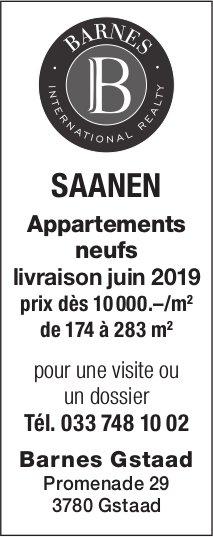 Appartements neufs, Saanen, à vendre