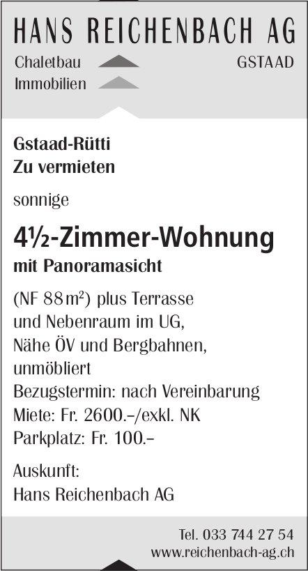 4.5-Zimmer-Wohnung mit Panoramasicht, Gstaad-Rütti, zu vermieten