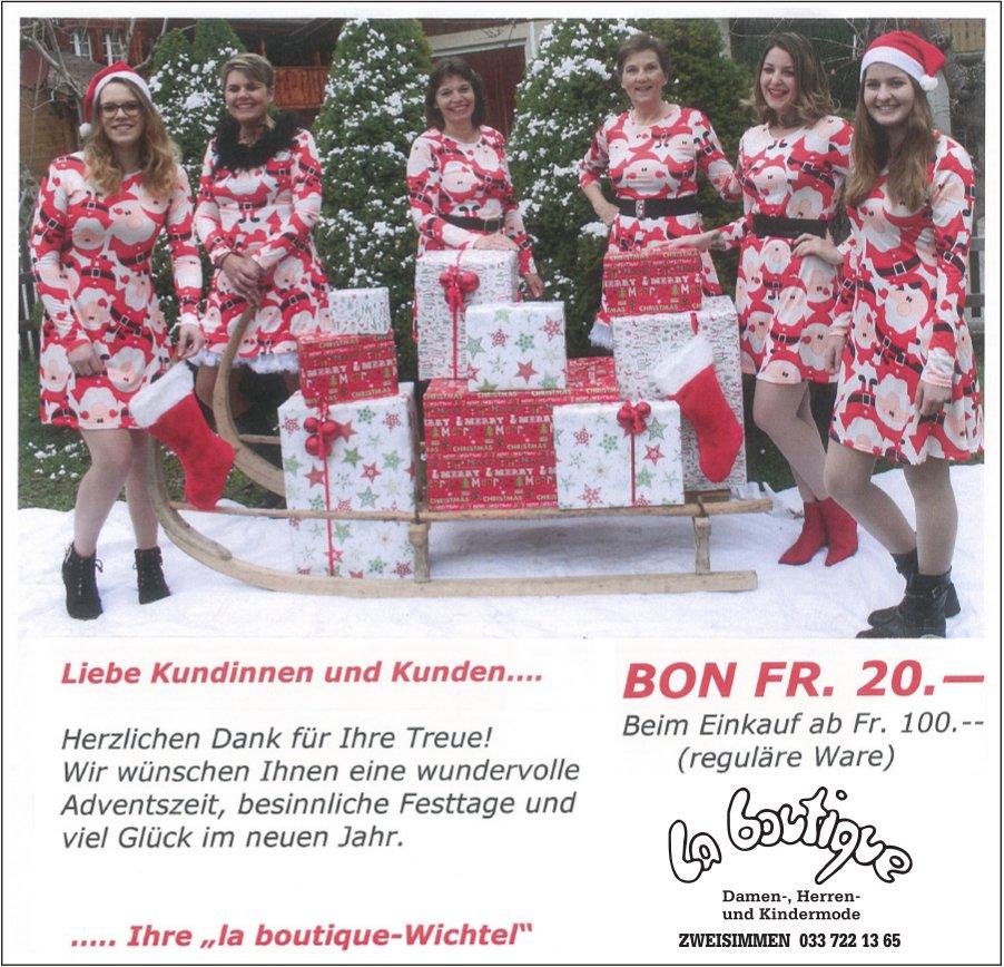 Bon Fr. 20.-, La Boutique