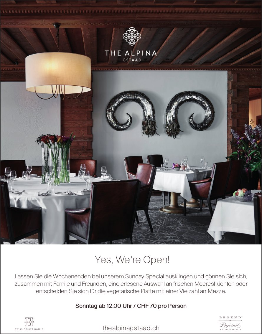Yes, We're Open! The Alpina