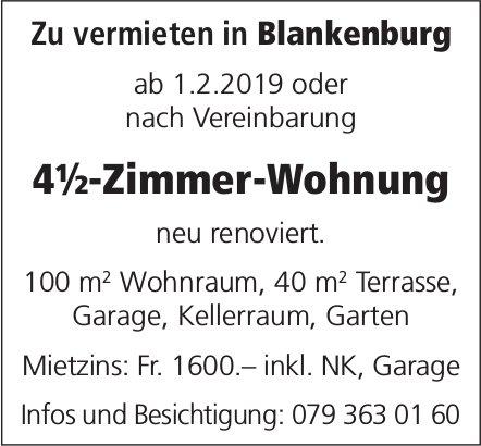 4½-Zimmer-Wohnung, Blankenburg, zu vermieten