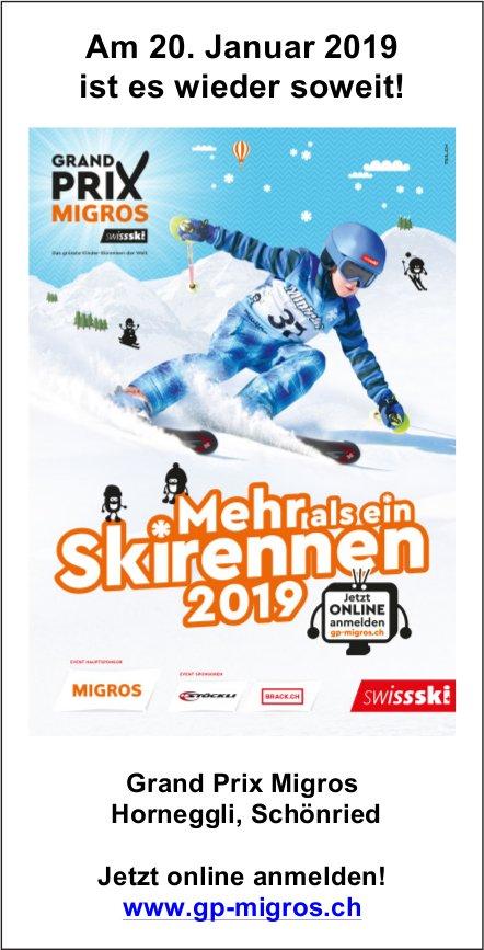Mehr als ein Skirennen 2019 - Grand Prix Migros, 20. Jan., Horneggli