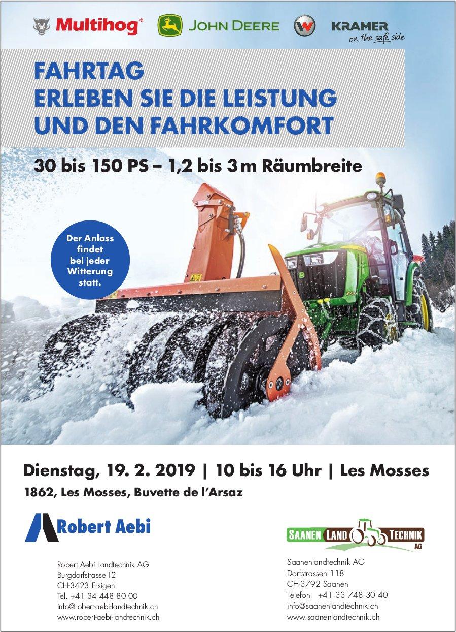 Fahrtag - Erleben Sie die Leistung und den Fahrkomfort, 19. Feb., Les Mosses